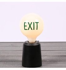 Sticker Words Green Exit