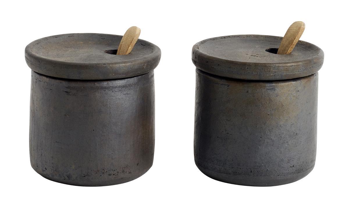 Salt och peppar-set med lock Terrakotta 7×75 cm
