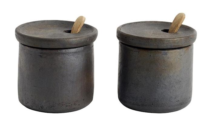 Salt och peppar-set med lock Terrakotta 7x7,5 cm