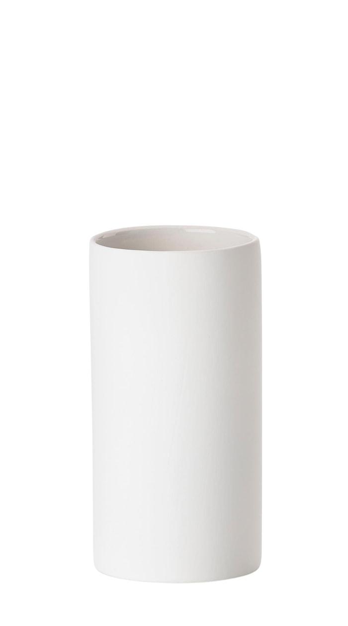 Tandbørstekrus - White - Stk. - Solo - Porcelæn - Soft touch - D 6,0cm - H 12,2cm - Gaveæske - Hvit
