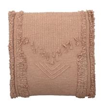 Coussin rose coton 55x55 cm