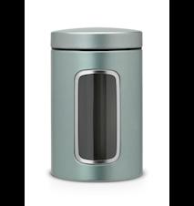 Opbevaringsbeholder med vindue 1.4 Ltr Metallic Mint