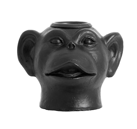 Palva Monkey Huvud Ljusstake