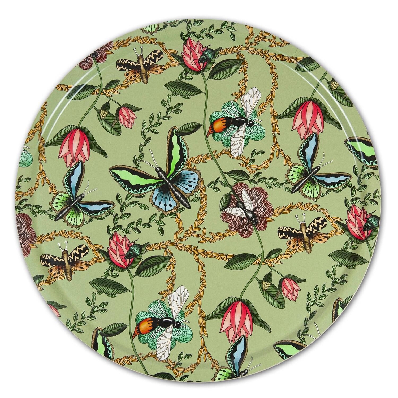 Nadja Wedin Design Bricka 65 cm Bugs & Butterflies Grön