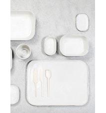Merci Syvä lautanen N°7 - Valkoinen