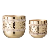 Pots de fleurs or métal ensemble de 2