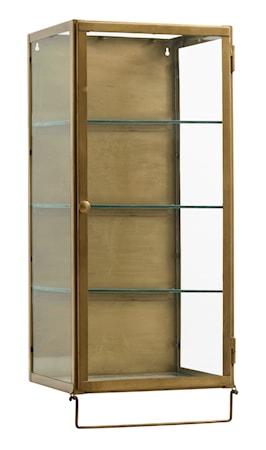 Väggskåp i Metall Glashyllor 66x30cm