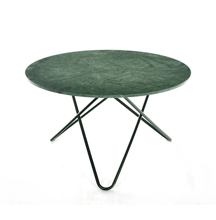 Big O table spisebord - Green indio/black steel