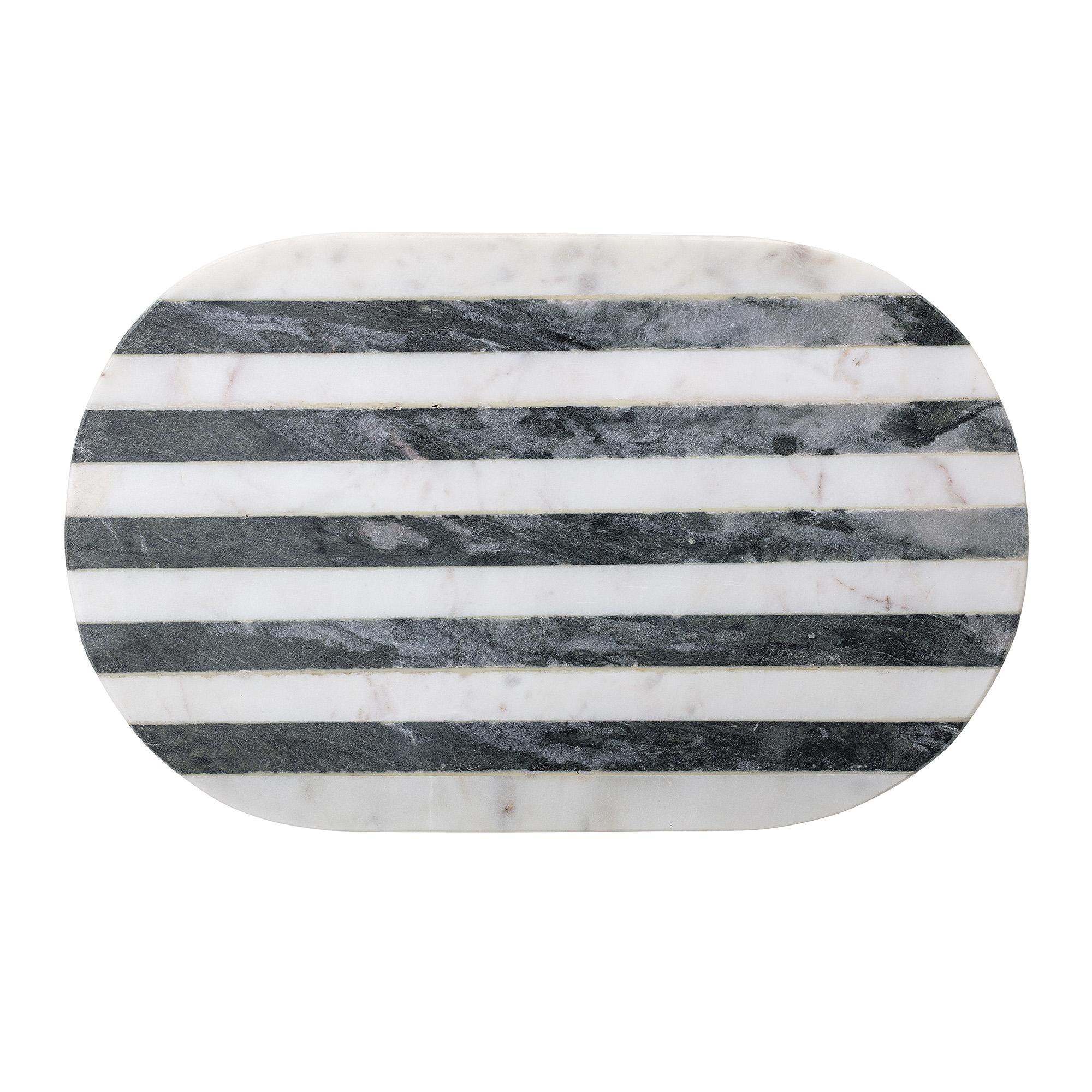 Serveringsbricka i Marmor Svart/Vit