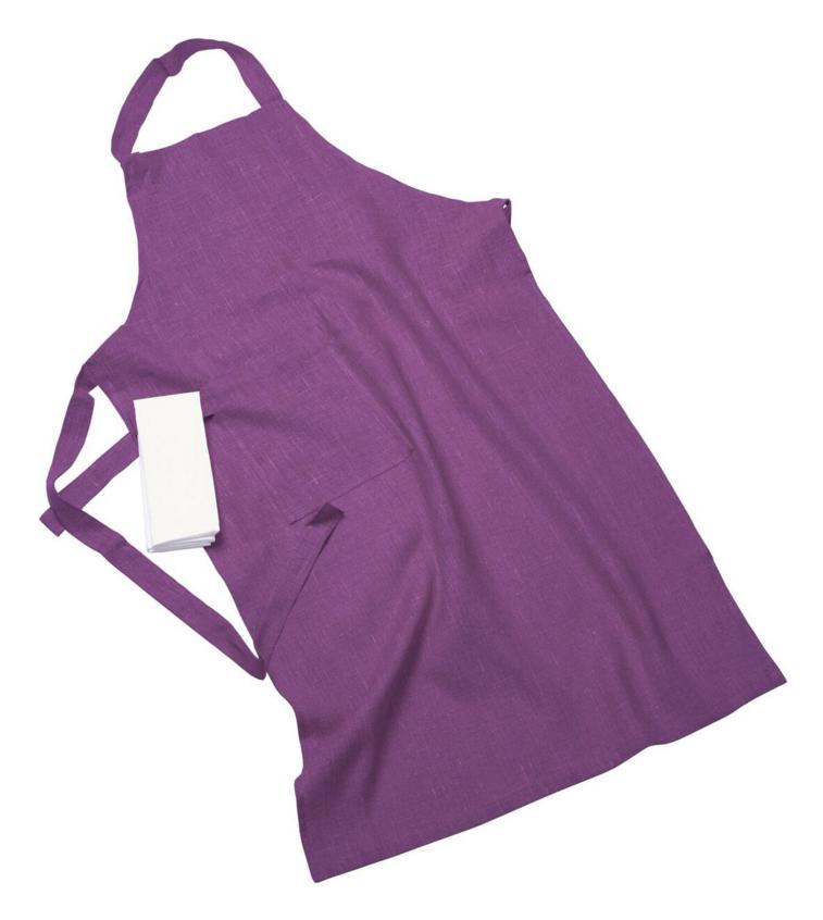 Erik classic lång förkläde – Med handduk violet