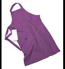 Erik classic lang forklæde – Med viskestykke, violet