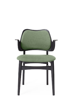 Gesture Chair S Sage green Canvas, Svartlackad Bok