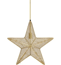 Orion hanging star Guld 60cm