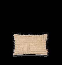 Crease Wool Kudde Rektangulär Light Sand