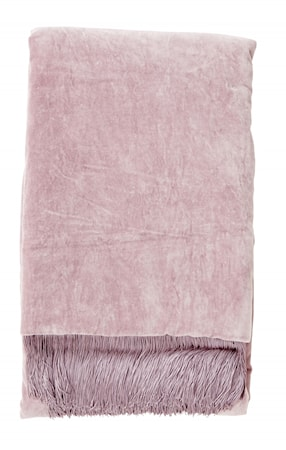 Filt Velvet med fransar - Light purple