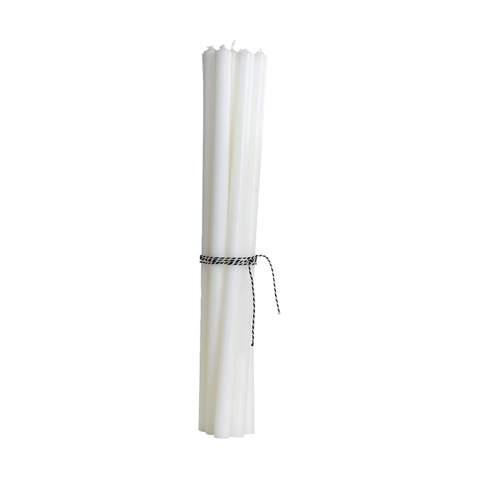 Pencil candle, White, 30 cm, Burning time 6 hours