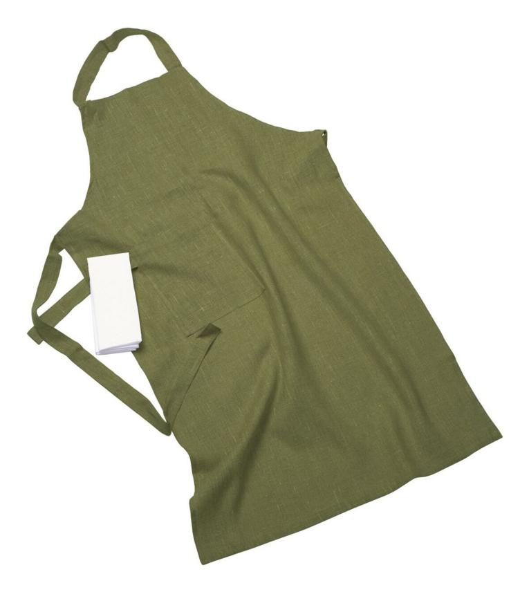 Erik classic lång förkläde – Med handduk sage