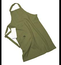 Erik classic lång förkläde – Med handduk, sage