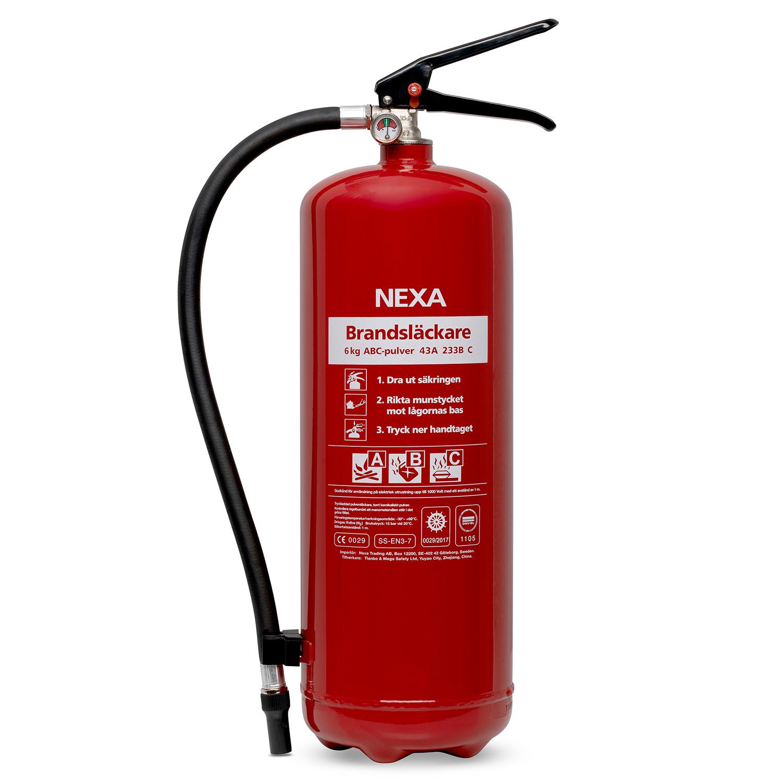 Brandsläckare Röd 6kg 43A