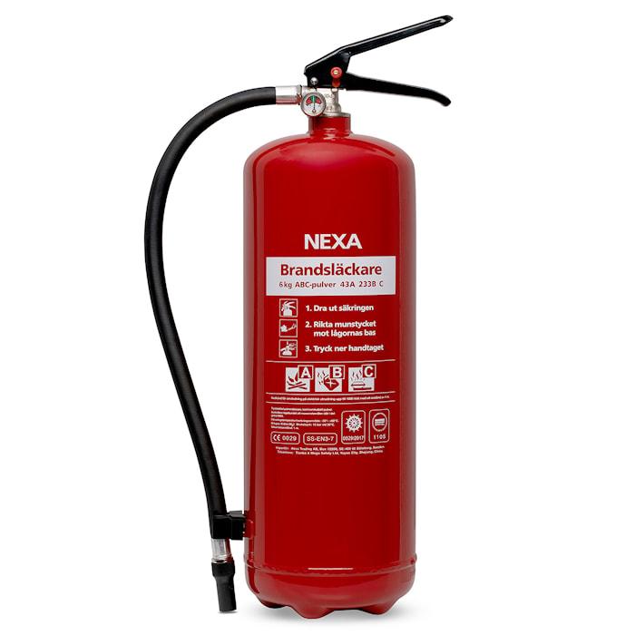 Nexa Fire & Safety Brandsläckare Röd 6kg 43A