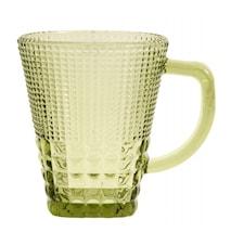 Glas med håndtag, col. green