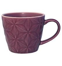 Kallia mug H 9,5 cm morado oscuro