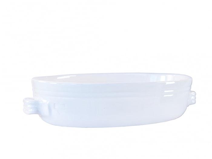 Toscana Gratängform 34x23 cm Keramik Vit