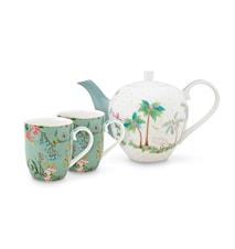 Jolie Tee-Set 3 Teile Klein Flowers Blau