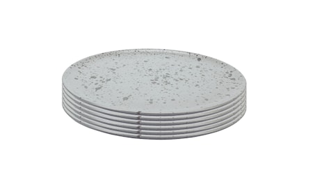 Raw Middagstallerken Nordic Grey 6 stk. 28 cm
