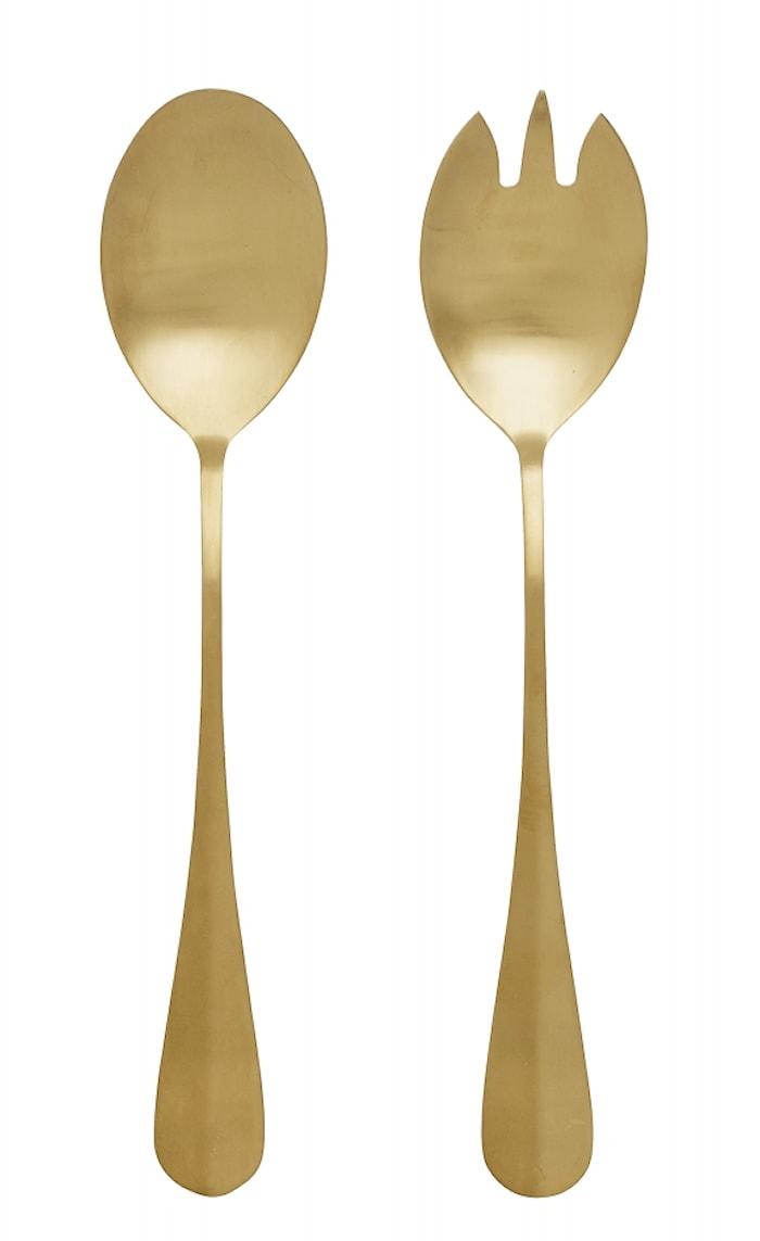 Gold Salatbestik 2 dele Guld