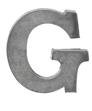 Zinc letter, G