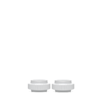 Ljuslykta Vit Porslin Ø6,5 cm 2-Pack