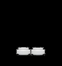 Ljuslykta Porslin Vit Ø6,5 cm 2-Pack