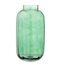 Vas Grön Glas 16x32cm