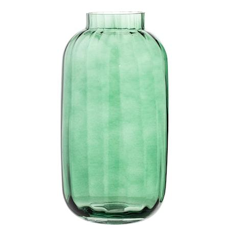 Vase Grønn Glass 16x32cm