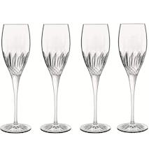 Diamante champagneglass 4 stk. klar 22 cl Ø7 cm H 23,6 cm Luigi Bormioli