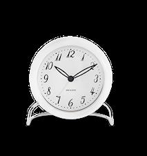 Arne Jacobsen LK Pöytäkello, valkoinen/valkoinen, Ø 11 cm, ajastimella