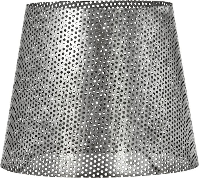 Mia hålad lampskärm Antik silver 20cm