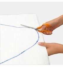 Kangasalusta Koko E, useita kokoja päällisen kuviosta riippuen 135x49 cm valkoinen