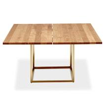 Jewel table Oil oak, Raw brass