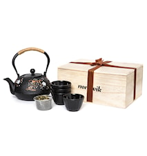 Japanese teapot Gift packs + 4 cups