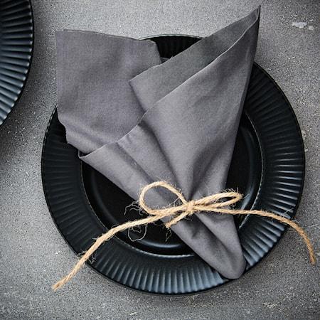 Groovy Ruokalautanen 27 cm musta
