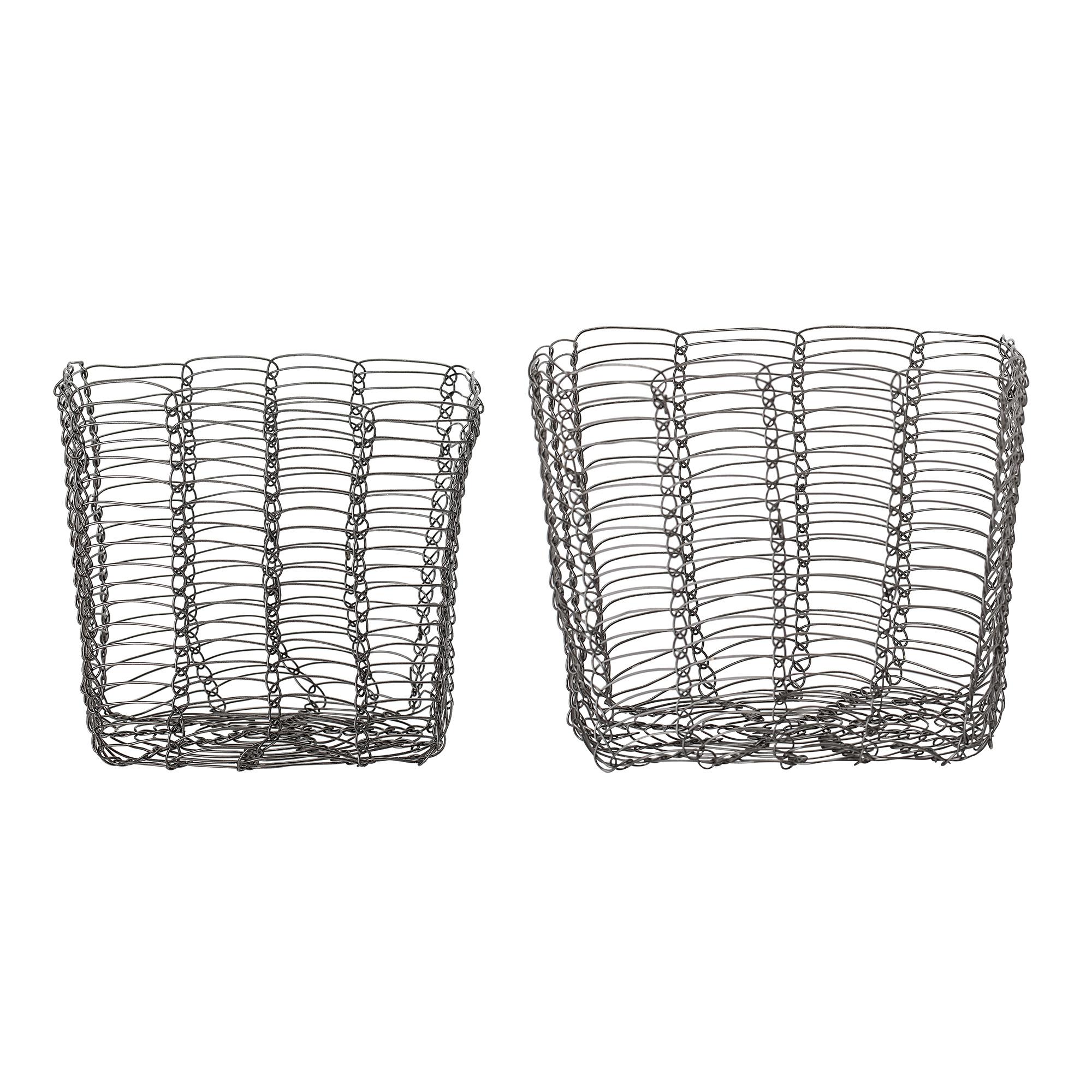 Basket Grey Metal