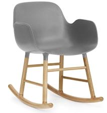 Form rocking chair stol med armlene eik - Grey