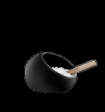 Salière noir 8 cm