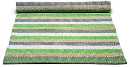 Plastic matta - Green/multistriped, 140x200