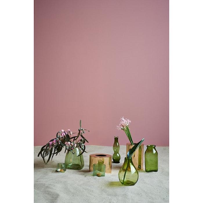 Day home Constant Vas Glas D: 19 cm H 25 cm Grön