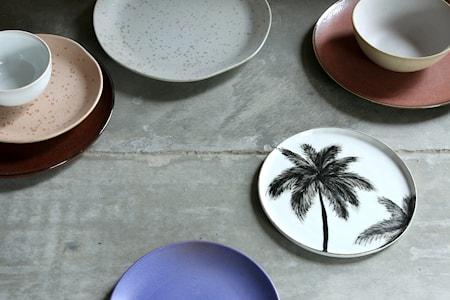 Keramik Tallerken Brun