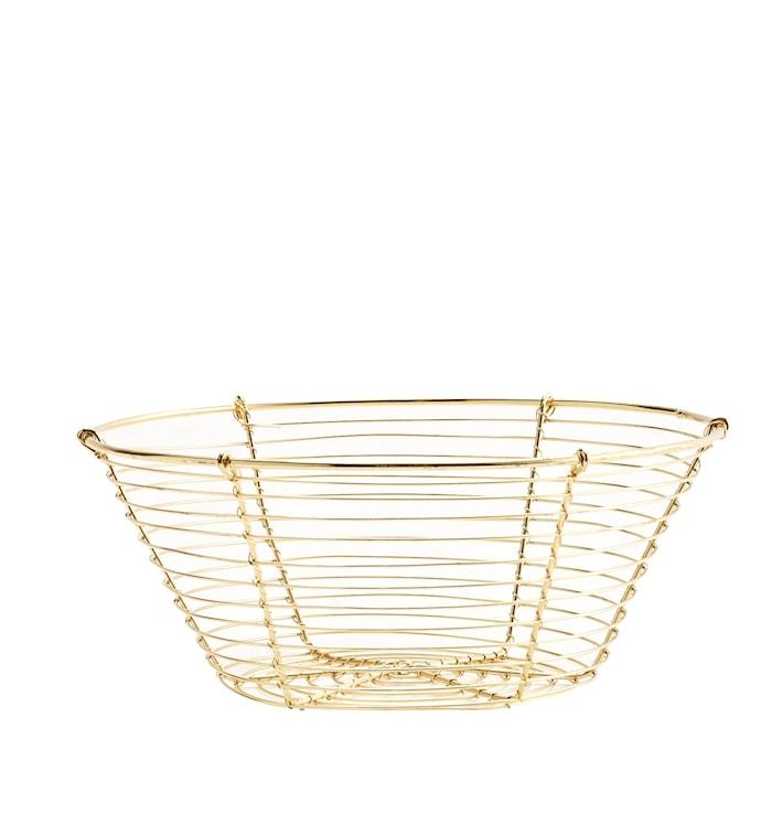 Kurv Ø 19 cm - Gull