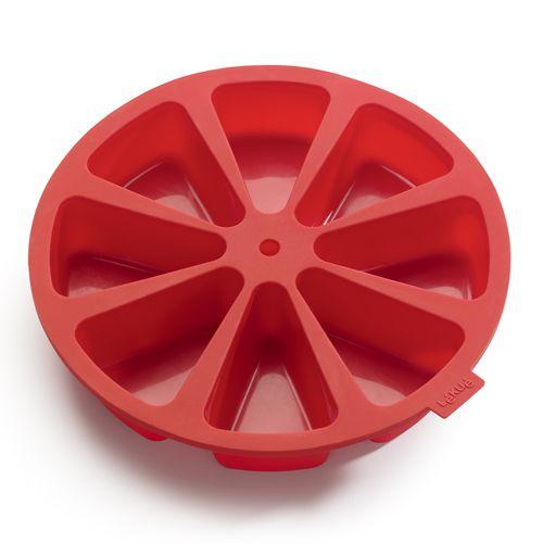Bakform Portionskakor x8 Silikon Röd